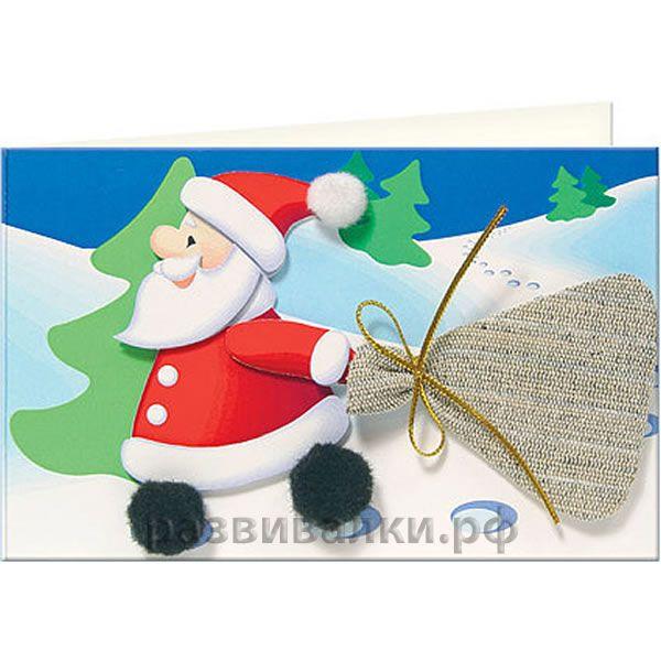 Новогодние объемные игрушки иКак сделать новогодний дед